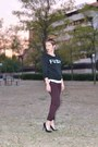 Black-bershka-shoes-crimson-h-m-jeans-black-ebay-sweatshirt