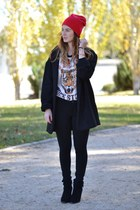 black Stradivarius boots - black Zara leggings