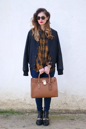 Zara jacket - burnt orange Michael Kors bag