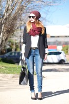 black Zara blazer - Zara jeans