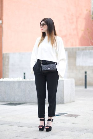 black Zara pants - top