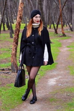 black Zara shoes - black H&M jacket