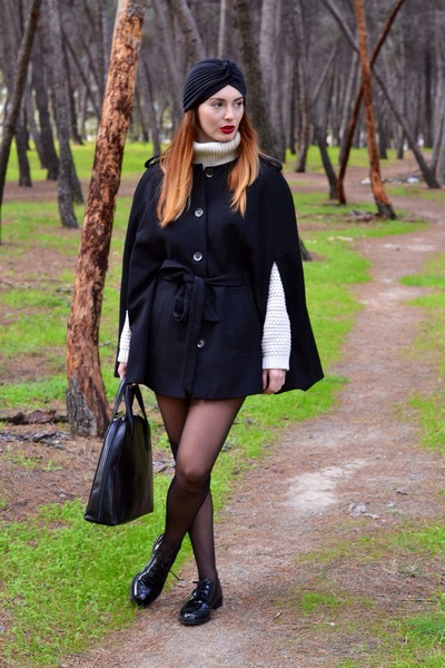 black Zara shoes - black H&M jacket