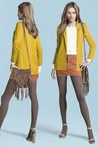 H&M blazer - H&M bag - H&M jumper - H&M skirt