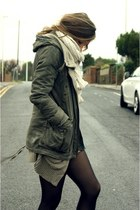 jacket - tights - scarf