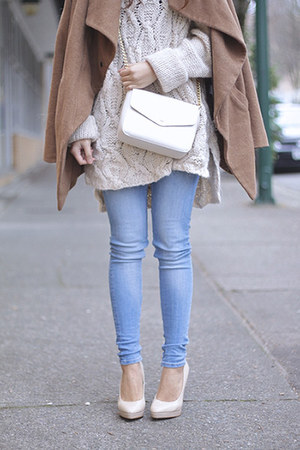 white and gold Forever 21 wallet - camel funktional coat