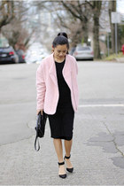 Zara coat - Forever 21 dress - Zara purse - ankle strap Zara heels