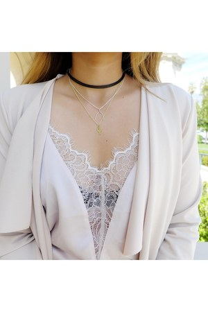 lace Forever 21 top - Boohoo jacket - lilacsinthesun accessories