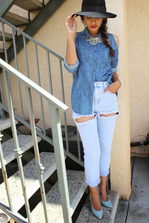 f21 jeans - Forever 21 necklace