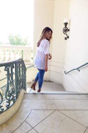 mesh Forever 21 top - Zara jeans
