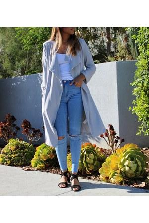 gray Forever 21 jacket - denim PacSun pants