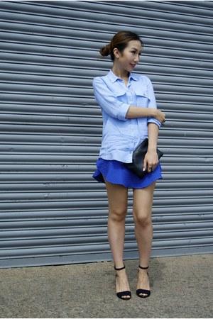 Zara skirt - Topshop shirt - Zara heels
