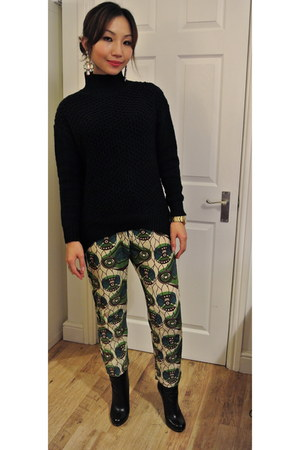 Topshop jumper - MuiMui boots - H&M Marni pants - Guess watch