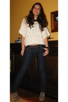 H&M sweater - Zara boots - Stradivarius jeans