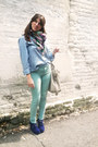 Mutlicolor-david-young-scarf-turquoise-necessary-clothing-pants
