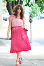 Pleated-pink-ann-taylor-loft-top