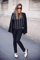 black Mango jacket - black Mango pants