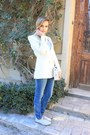 Sky-blue-zara-jeans-light-blue-french-connection-shoes-off-white-zara-bag