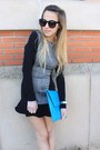 Silver-nixon-watch-black-h-m-dress-sky-blue-asos-bag