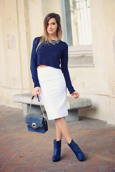 white Zara skirt
