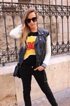 black Zara bag - white Converse sneakers - black H&M vest
