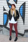 Brick-red-zara-hat-black-asos-jacket-white-zara-shirt