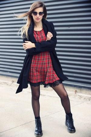 black DrMartens boots - black Zara coat