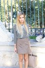 Black-zara-shoes-black-zara-top-white-zara-necklace-tan-zara-skirt