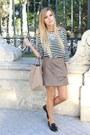 Black-zara-shoes-white-zara-necklace-black-zara-top-tan-zara-skirt