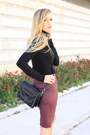 Black-zara-sweater-black-zara-bag