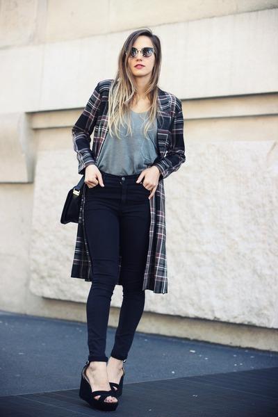 black Cheap Monday jeans - heather gray OASAP shirt