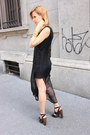 Black-h-m-dress-black-blanco-bag-black-miss-kg-sandals