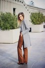 Brown-hispanitas-boots-heather-gray-oasap-coat