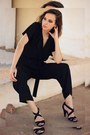 Black-zara-sandals