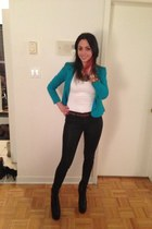 H&M blazer - Zara top - rag&bone pants - Jeffrey Campbell heels