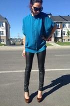 ted baker blouse - Vero Moda pants - Christian Louboutin heels