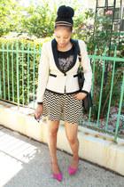 vintage shorts - tuxedo blazer H & M blazer - printed tee H&M shirt