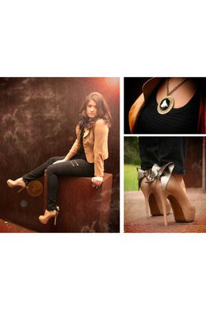 Gap jeans - suede and prim Anna Collection Josephine Coat blazer - black mesh ta