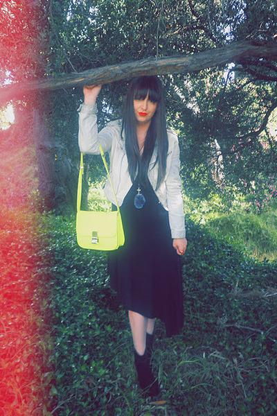 black Novo boots - black asymetrical Cheap Monday dress