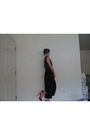 Black-maison-michel-hat-red-ysl-shoes-black-vintage-jumpsuit