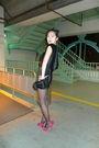 Black-bcbg-maxazria-pants-red-yves-saint-laurent-shoes-black-maison-michel-