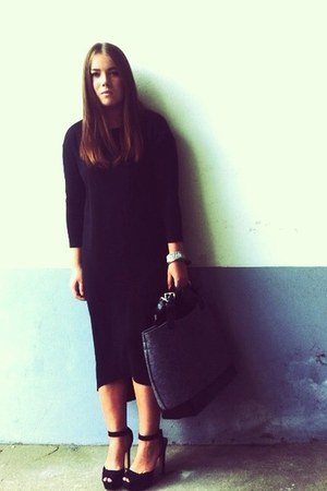 Zara bag - COS dress - COS bracelet - Zara heels - Escama Studio bracelet