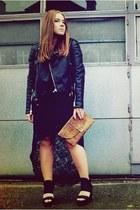 GINA TRICOT jacket - GINA TRICOT shirt - vintage bag - GINA TRICOT skirt