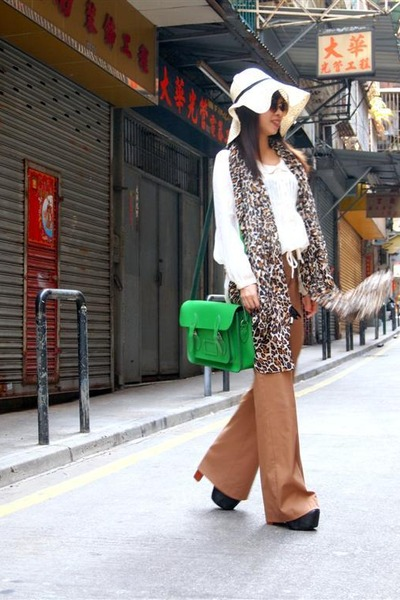Jeffrey Campbell boots - H&M hat - H&M scarf - cambridge satchel bag - H&M pants