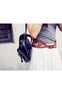 Black-h-m-hat-charcoal-gray-dress-neutral-h-m-skirt-aquamarine-h-m-sandals