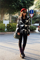 H&M necklace - Jeffrey Campbell boots - hat - Zara bag