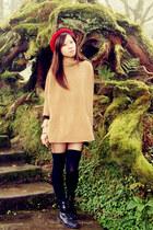 H&M blouse - H&M boots - hat