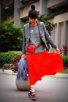 Zara sweater - izzuecom blazer - American Apparel scarf - Zara bag - Zara clogs