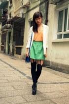 Jeffrey Campbell shoes - H&M blazer - House of Holland tights - asos bag - H&M v