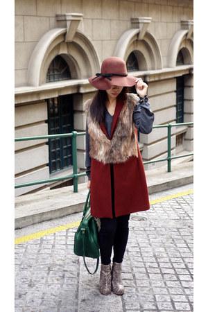Aldo boots - Zara coat - H&M hat